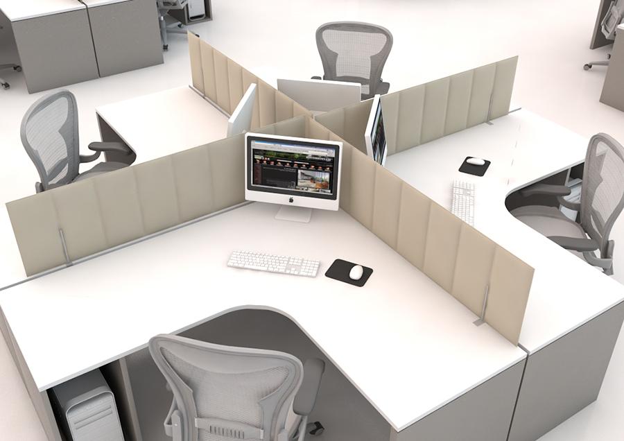 Séparateur de bureau acoustique entre vos bureaux professionnels